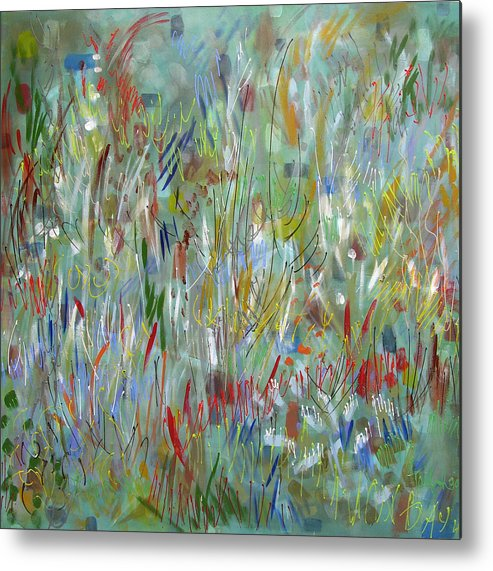 Abstract Metal Print featuring the painting Feeling Your Way by Lynne Taetzsch