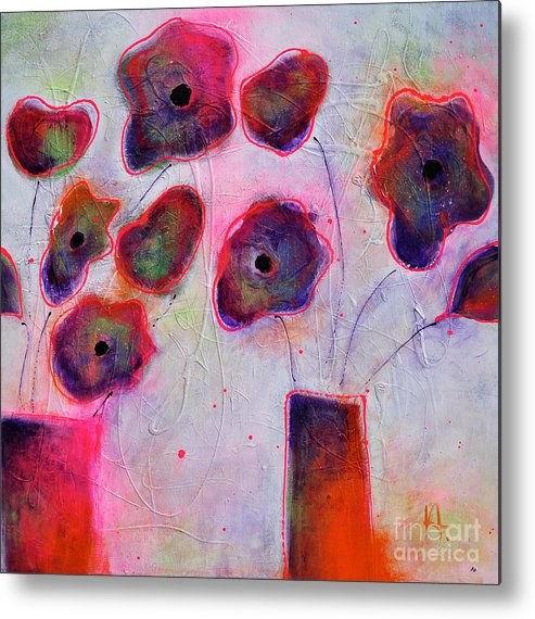 In Full Bloom Metal Print featuring the painting In Full Bloom 2 by Johane Amirault
