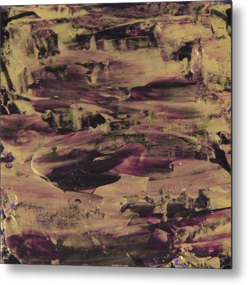 Purple Metal Print featuring the painting John1.5 by Tracy Fetter