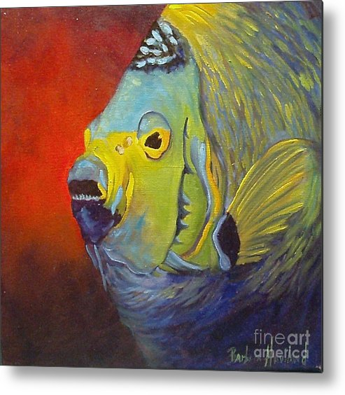 Fish Metal Print featuring the painting Mean Green Fish by Barbara Haviland