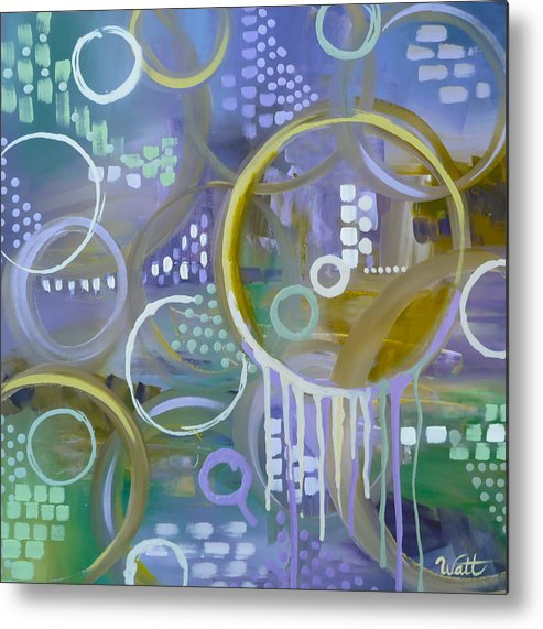 Abstract Art Metal Print featuring the painting Moon Violet by Tammy Watt