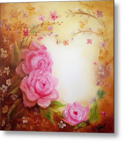 Flowers Metal Print featuring the painting Morning Beauty by Joni McPherson