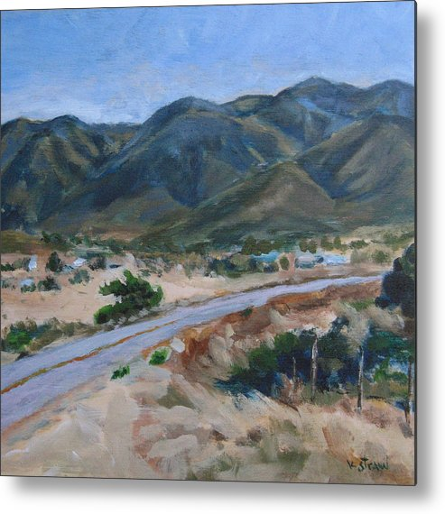 Landscape Metal Print featuring the painting Road To Punta Banda by Kellie Straw
