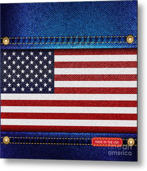 Background Metal Print featuring the photograph Stars And Stripes Denim by Jane Rix