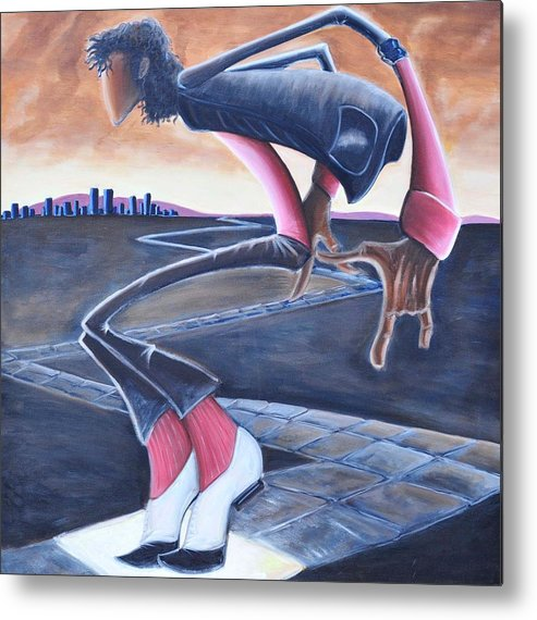Mj Metal Print featuring the painting Billie Jean by Tu-Kwon Thomas