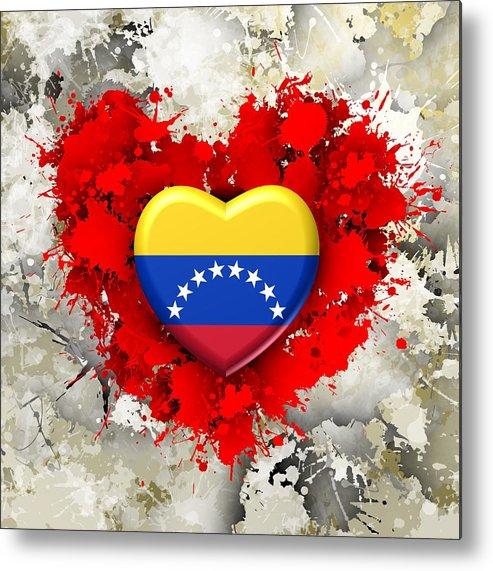 Love Metal Print featuring the digital art Love Venezuela by Alberto RuiZ