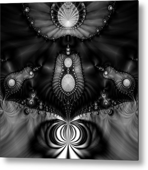 Fractal Metal Print featuring the digital art Shell Realm by Devalyn Marshall