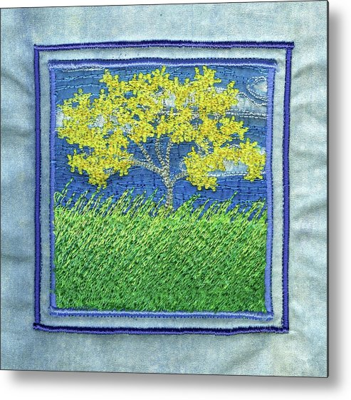 Tree Metal Print featuring the tapestry - textile Simple Days by Dottie Moore