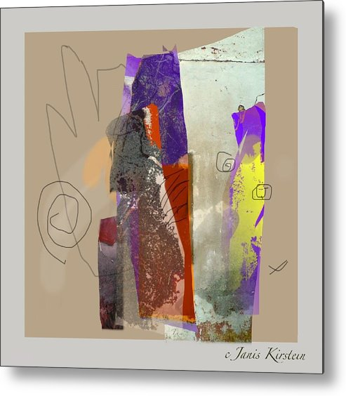 Mixed Media Metal Print featuring the mixed media Summer Slumber 2 by Janis Kirstein