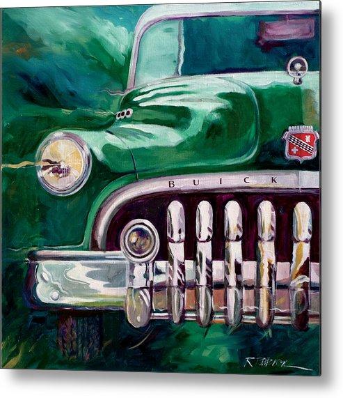 Transportation Metal Print featuring the painting 1950 Buick Roadmaster by Ron Patterson