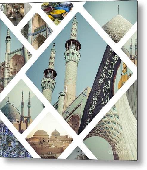 Iran Metal Print featuring the photograph Collage Of Iran Images by Mariusz Prusaczyk