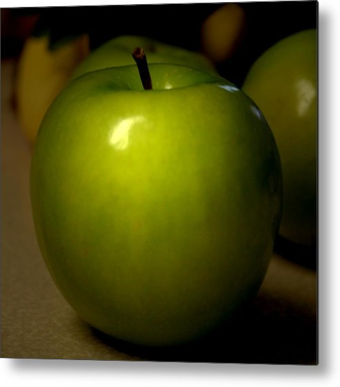 Green Apples Metal Print featuring the photograph Apple by Linda Sannuti
