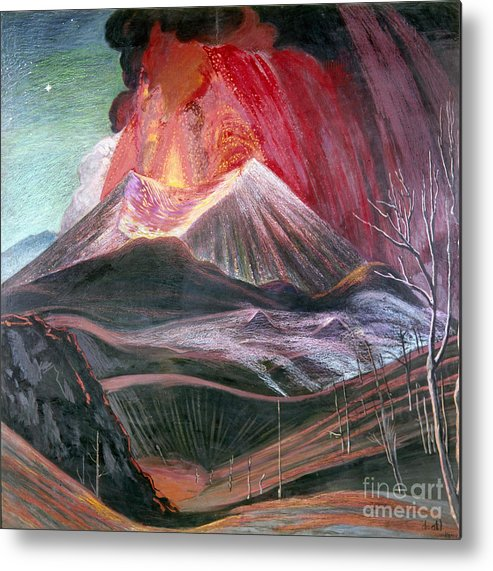 20th Century Metal Print featuring the photograph Atl: Volcano, 1943 by Granger