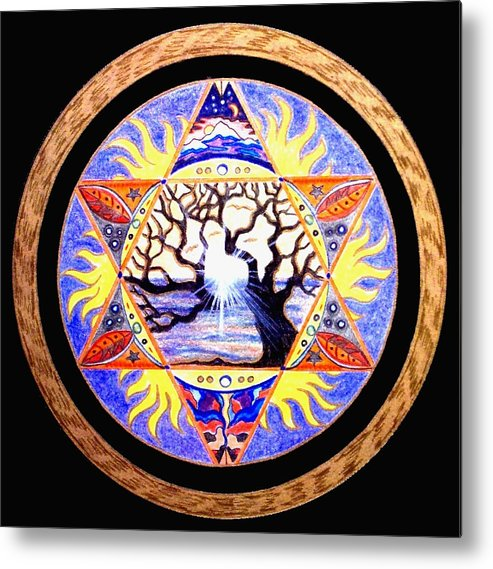 Tree Metal Print featuring the painting Awakening by Pam Ellis