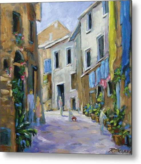Urban Metal Print featuring the painting Back Street by Richard T Pranke