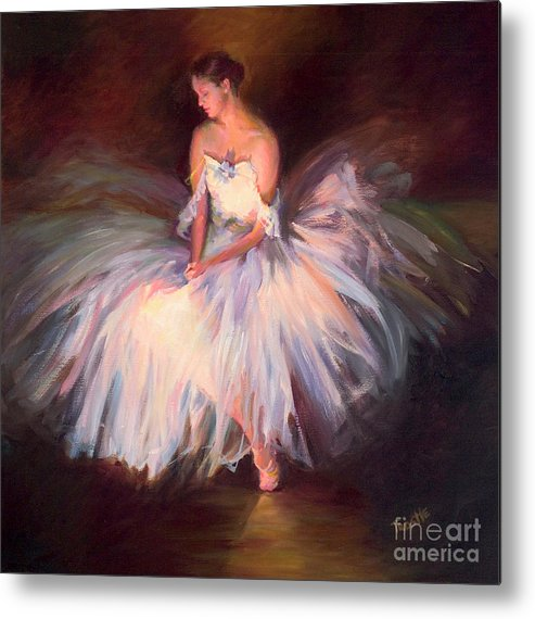 Best Selling Art Prints Metal Print featuring the painting Ballerina Ballet Dancer Archival Print by Patti Trostle