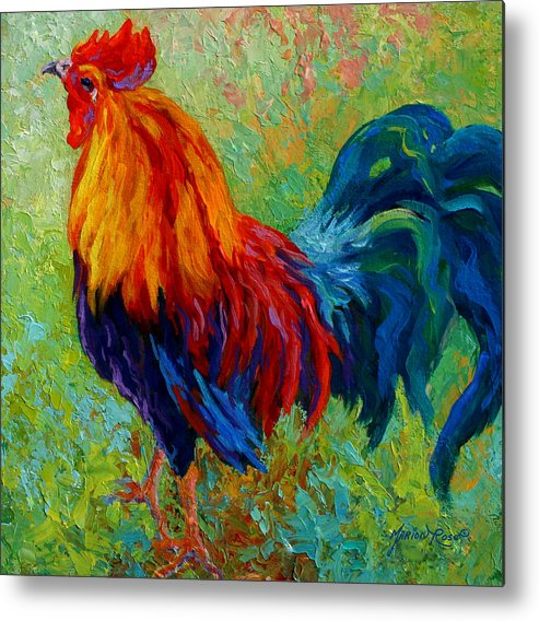 Rooster Metal Print featuring the painting Band Of Gold by Marion Rose