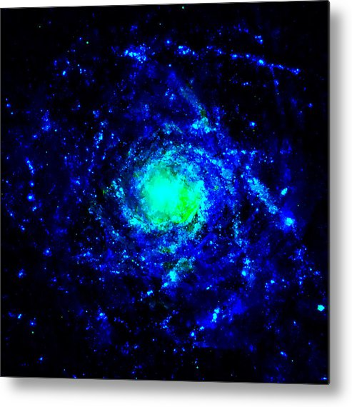 Abstract Metal Print featuring the mixed media Beginning Of The Universe by Stacey Chiew