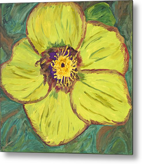 Bloom Metal Print featuring the painting Bloom I by Bernadette Robertson