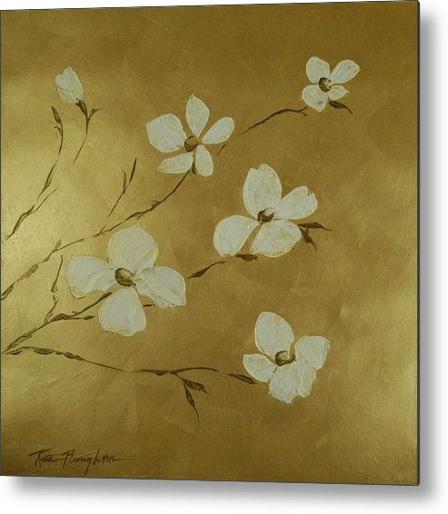 Blossom Metal Print featuring the painting Blossom II by Rita  Broughton