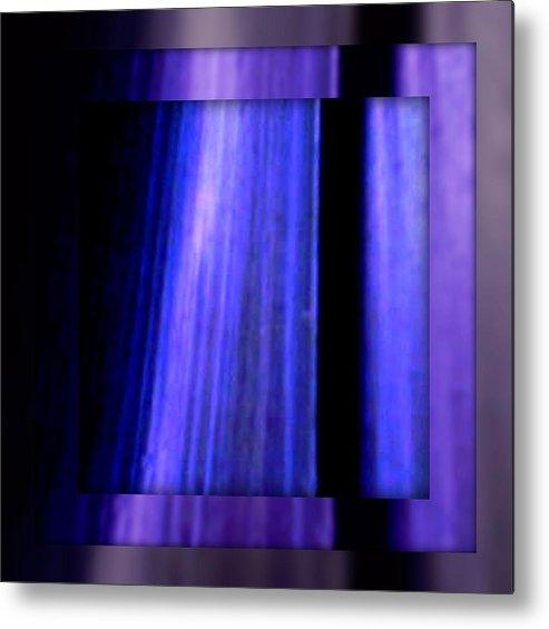Joan Kamaru Metal Print featuring the digital art Blue Column Art by Joan Kamaru