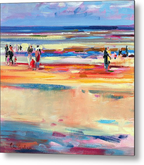 Beach Metal Print featuring the painting Boulevard De Boudin by Peter Graham