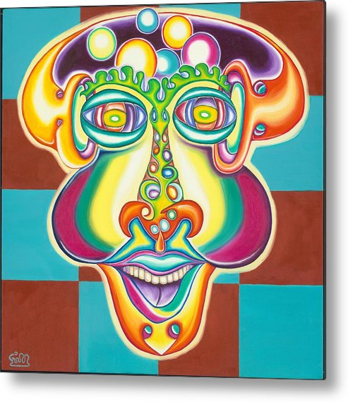 Fantasy Metal Print featuring the painting Bubbles Head by      Gillustrator
