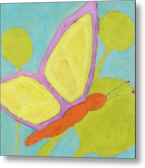 Butterfly Painting Metal Print featuring the painting Butterfly by Laurie Breen