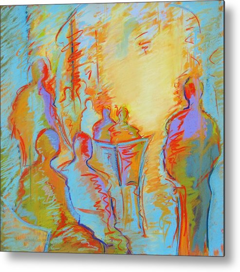 Cafe Metal Print featuring the painting Cafe Three by LaDonna Kruger