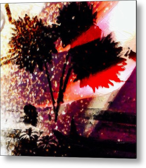 Abstract Metal Print featuring the photograph Cayenne Floral by Rita Koivunen