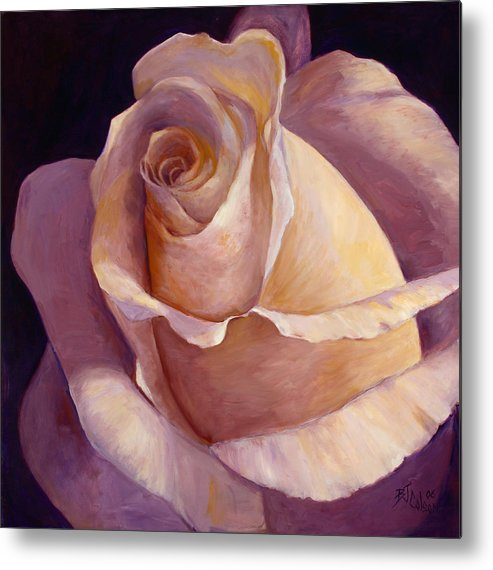 White Rose Metal Print featuring the painting Close To Perfection by Billie Colson