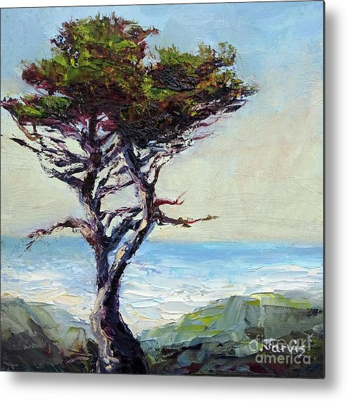 Coast Cypress Metal Print featuring the painting Coast Cypress by Carolyn Jarvis