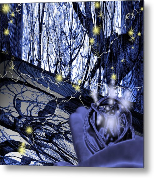 Control Metal Print featuring the digital art Control by Cathy Beharriell