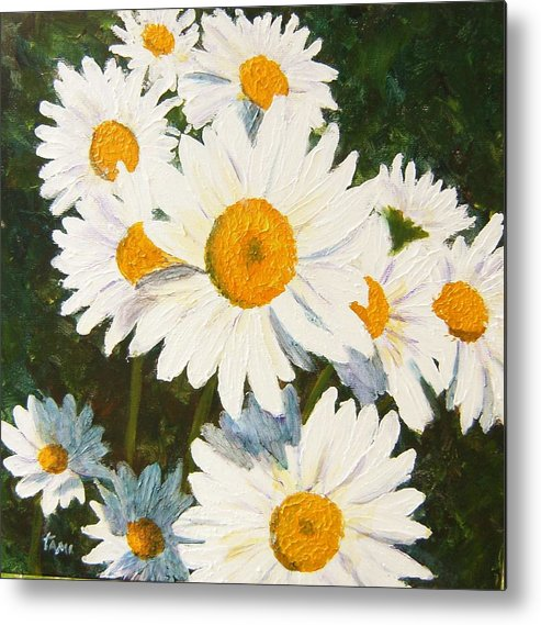 Daisy Metal Print featuring the painting Daisy by Tami Booher