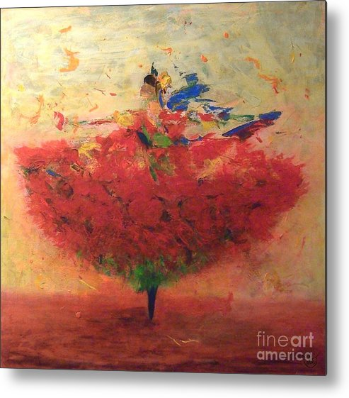 Dance Metal Print featuring the painting Dance Of Happiness by Agneta Holmqvist