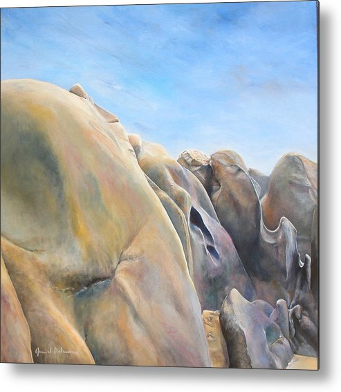 Landscape Metal Print featuring the painting Desert by Muriel Dolemieux