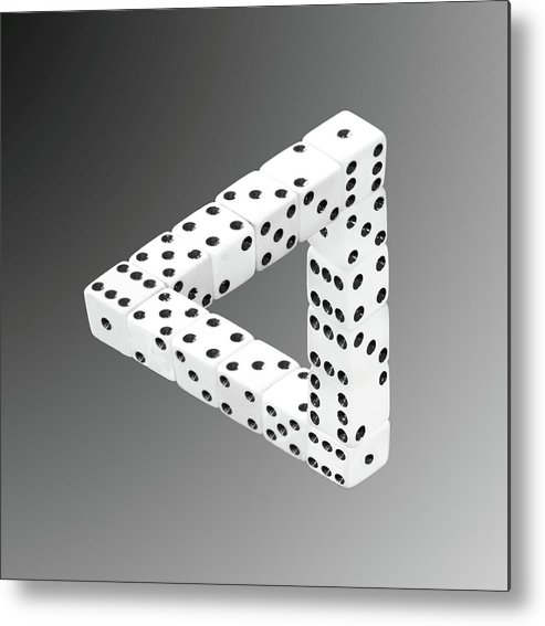 Optical Illusion Metal Print featuring the photograph Dice Illusion by Shane Bechler