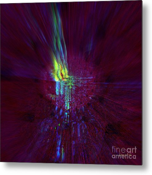 Fania Simon Metal Print featuring the digital art Divine Light - No External Pressure by Fania Simon