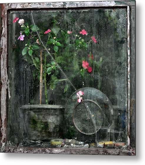 Window Metal Print featuring the photograph Drizzled Window by Joe Bonita