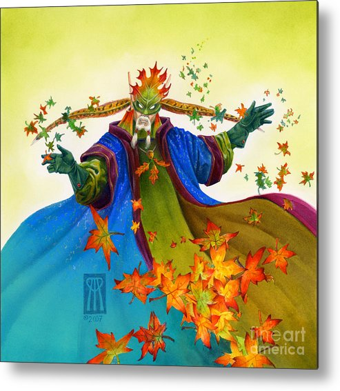 Elf Metal Print featuring the painting Elven Mage by Melissa A Benson