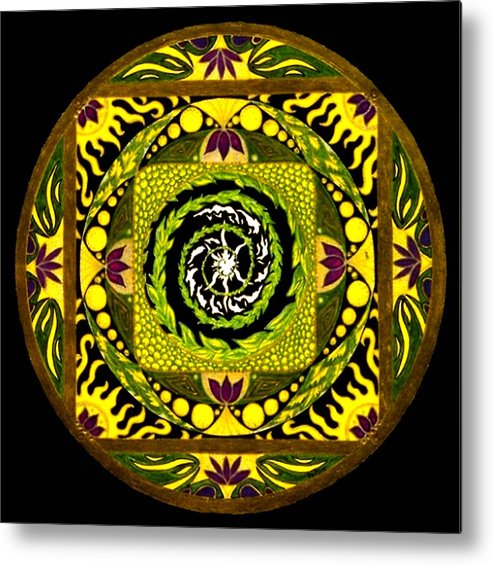 Mandala Metal Print featuring the painting Enter The Garden by Pam Ellis
