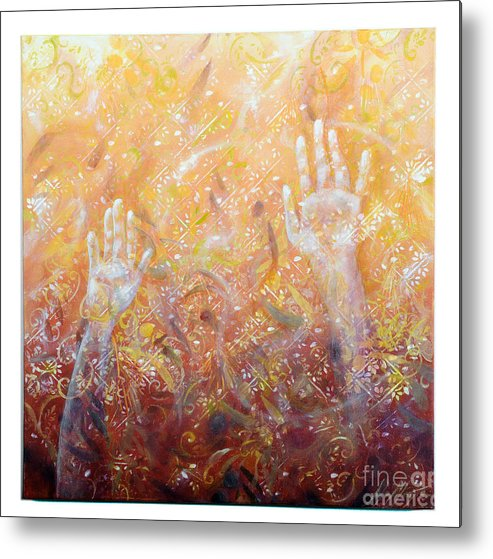 Metal Print featuring the painting Ethereal Revelation by Lynda McLaughlin