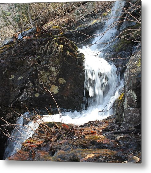 Delaware Water Gap Metal Print featuring the photograph Face In The Falls by Richard Fisher
