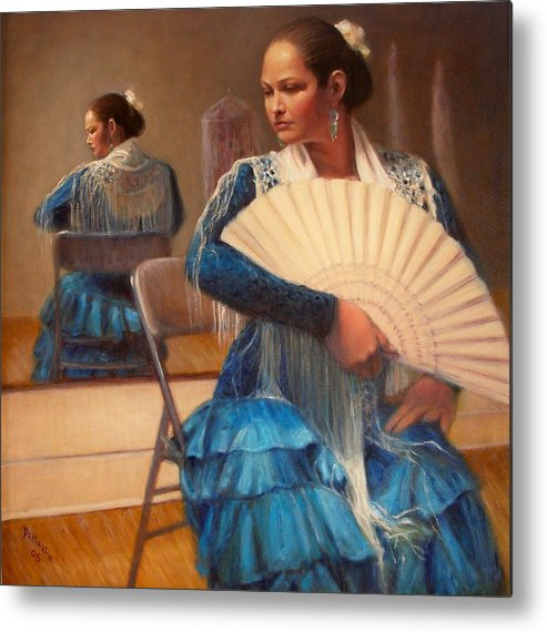 Realism Metal Print featuring the painting Flamenco 1 by Donelli DiMaria