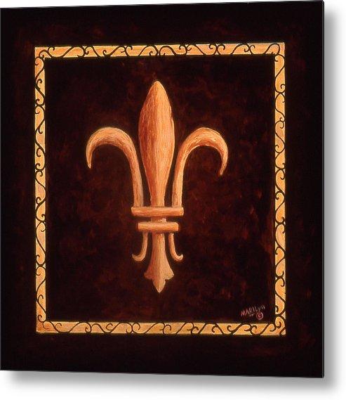 France Metal Print featuring the painting Fleur De Lys-clovis by Marilyn Dunlap