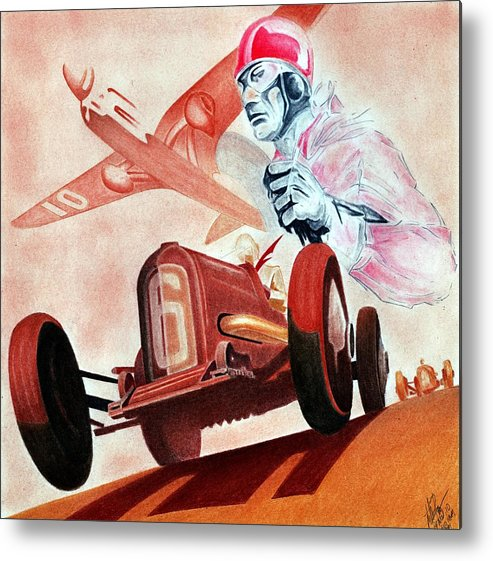 Geo Ham Metal Print featuring the mixed media Geo Ham Tribute by Lyle Brown