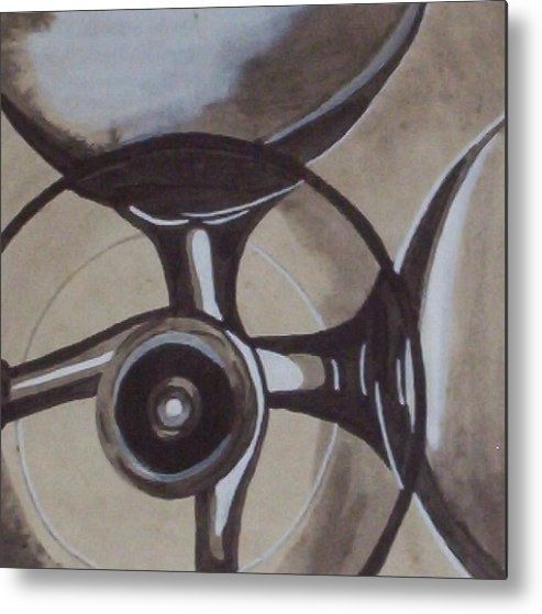 Glasses Metal Print featuring the painting Glasses by Joan Stratton