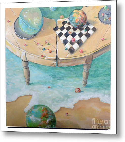 Globes Metal Print featuring the painting Global Strategy by Lynda McLaughlin