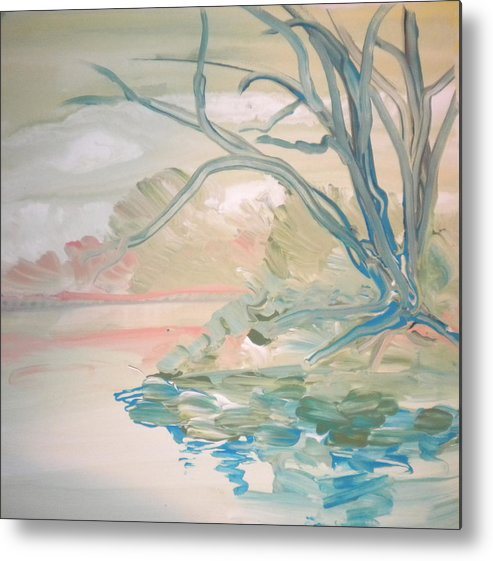 Alzheimer's Metal Print featuring the painting Going Fishing By Sidney by Art Without Boundaries