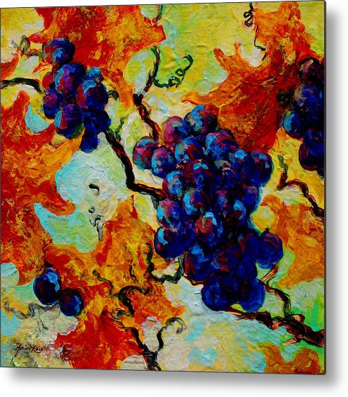 Grapes Metal Print featuring the painting Grapes Mini by Marion Rose